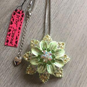 Betsey Johnson Flower Necklace & Brooch